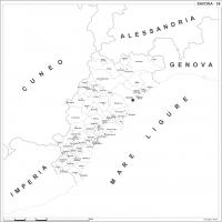 Carta della provincia di Savona