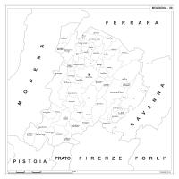 Carta della provincia di Bologna