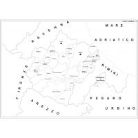 Carta della provincia di Forlì-Cesena