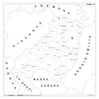 Carta della provincia di Parma