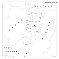 Carta della provincia di Reggio Emilia