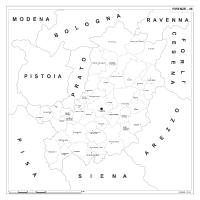 Carta della provincia di Firenze