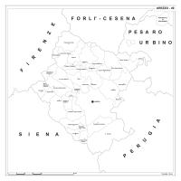 Carta della provincia di Arezzo