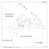 Carta della provincia di Ancona