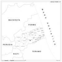 Carta della provincia di Ascoli Piceno