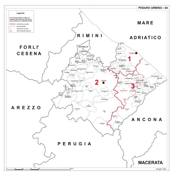 Cartina Geografica Provincia Di Pesaro Urbino.Carta Geografica Provinciale
