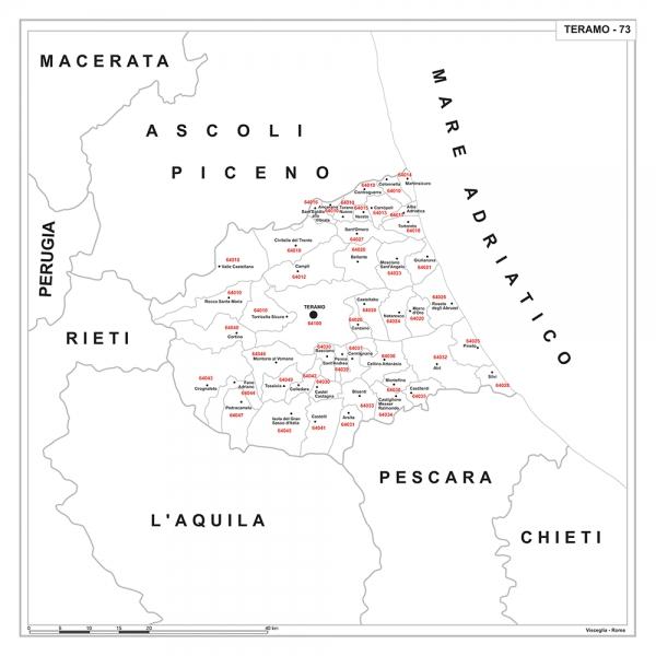Cartina Geografica Provincia Di Teramo.Carta Geografica Provinciale