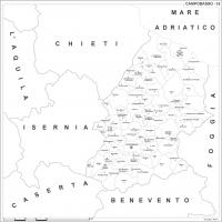 Carta della provincia di Campobasso