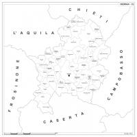 Carta della provincia di Isernia
