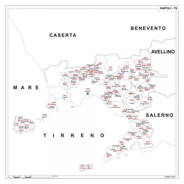 Provincia Di Napoli Cartina.Carta Geografica Provinciale