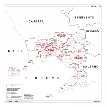 Cartina Stradale Di Napoli.Carta Geografica Provinciale