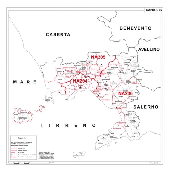 Cartina Geografica Napoli E Dintorni.Carta Geografica Provinciale