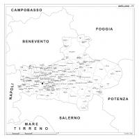 Carta della provincia di Avellino