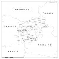 Carta della provincia di Benevento