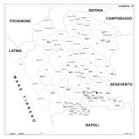 Carta della provincia di Caserta