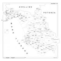 Carta della provincia di Salerno