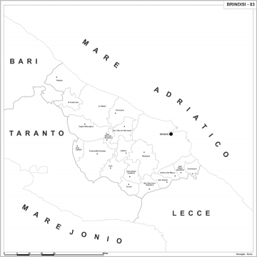 Brindisi Cartina Geografica.Carta Geografica Provinciale