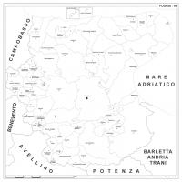 Carta della provincia di Foggia