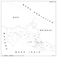 Carta della provincia di Taranto