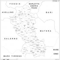 Carta della provincia di Potenza
