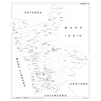 Carta della provincia di Cosenza