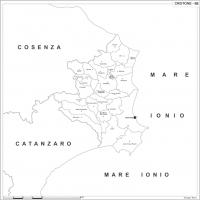 Carta della provincia di Crotone