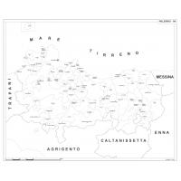Carta della provincia di Palermo