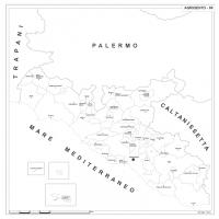 Carta della provincia di Agrigento
