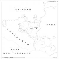 Carta della provincia di Caltanissetta