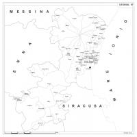 Carta della provincia di Catania