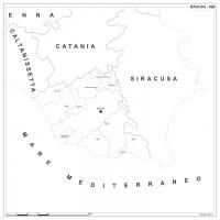 Carta della provincia di Ragusa