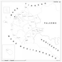 Carta della provincia di Trapani