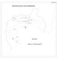 Carta della provincia di Cagliari