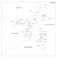 Carta della provincia di Nuoro