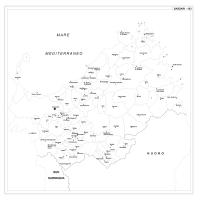 Carta della provincia di Sassari