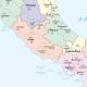 Carta geografica dell'Italia amministrativa a colori