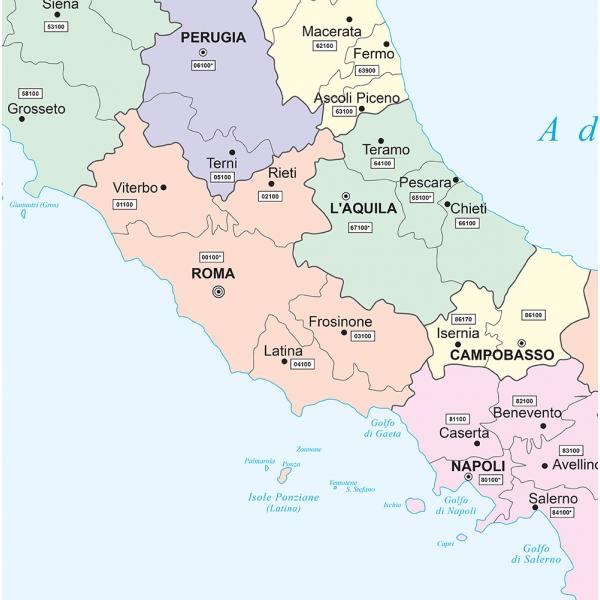 Cartina Italia Politica A Colori.Carta Geografica Dell Italia Amministrativa A Colori Visceglia Carte E Mappe Geografiche