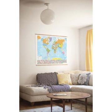 Carta geografica del mondo politica a colori con le bandiere