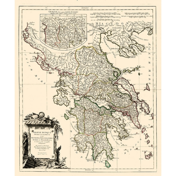 Cartina Geografica Antica.Carta Antica Della Grecia Antica 1778