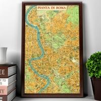 Carta geografica Roma 1970