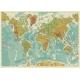 Carta geografica del mondo fisico a colori