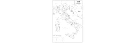 Carte geografiche con Italia amministrativa