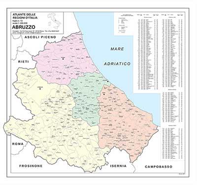 cartina geografica a colori abruzzo