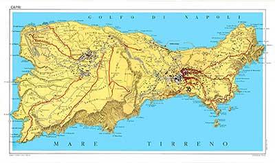 mappa Isola di Capri edito da Visceglia