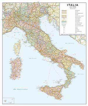 italia politico stradale cartografica visceglia