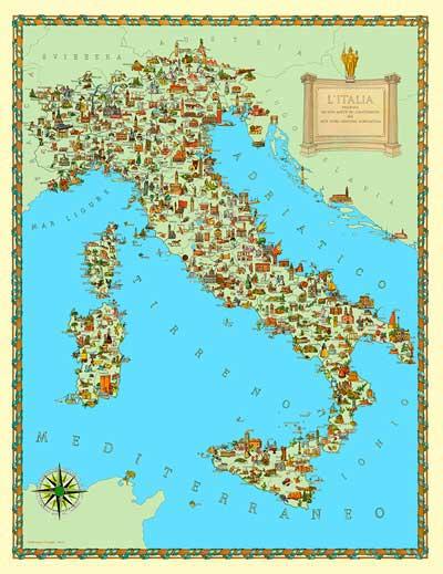 Cartina Italia Tematica.Le Carte Geografiche Vintage Per Studio O Arredamento