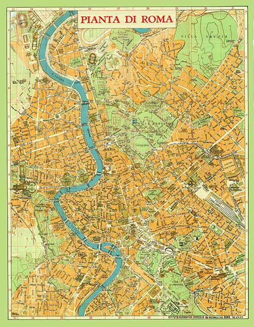 carta geografica roma vintage cartografica visceglia