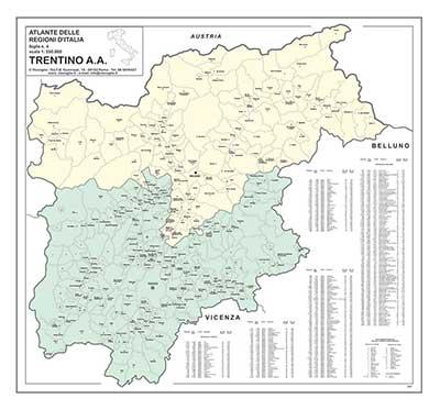 carta geografica trentino alto adige