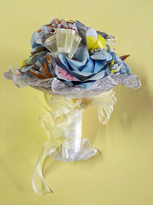 bouquet da sposa personlazziato cartografica visceglia
