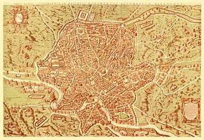mappa di roma antica cartografica visceglia